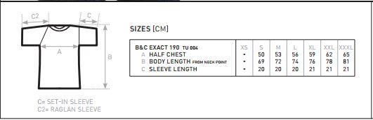 mesure t-shirt premium homme