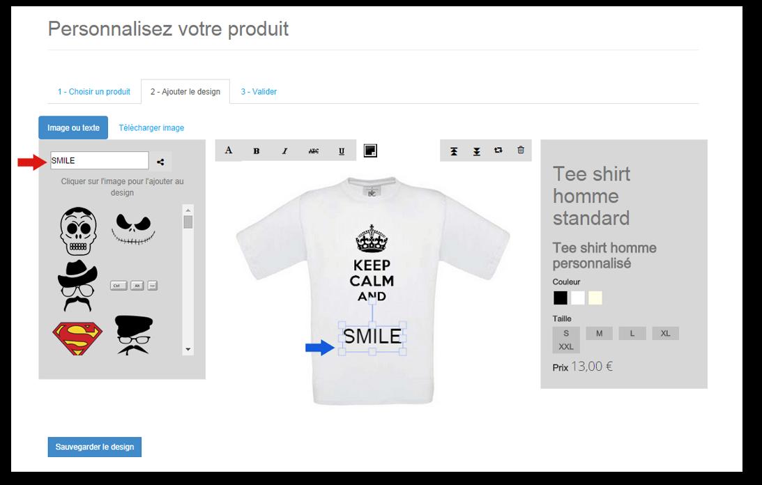 Ajouter un texte à votre t-shirt