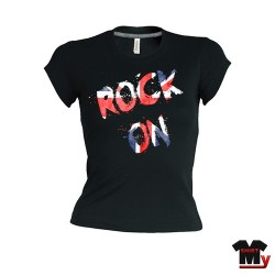 T shirt femme Rock on