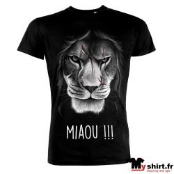 t shirt tete de lion rigolo