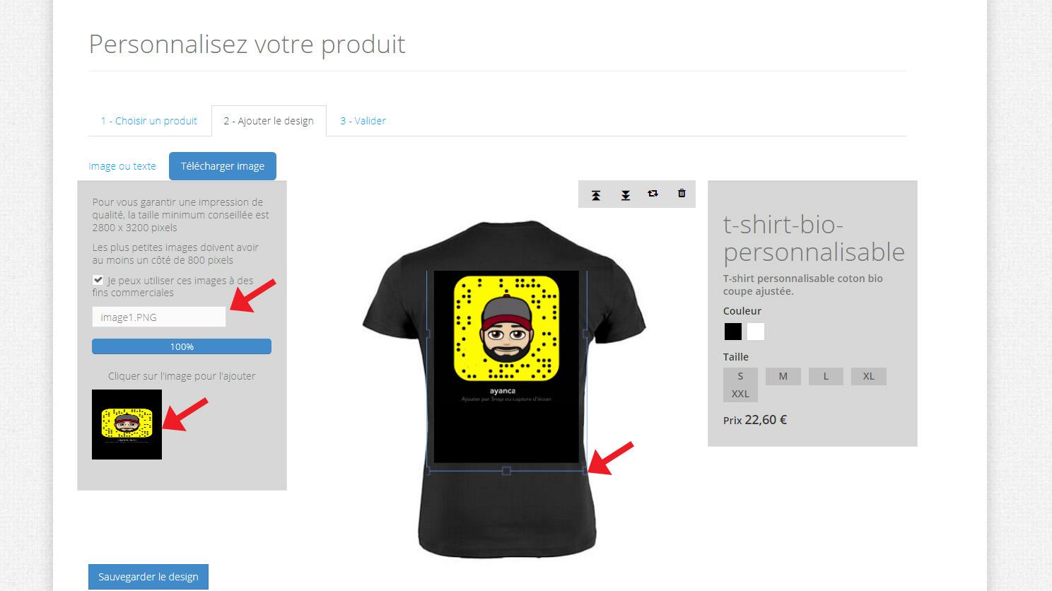 t shirt snapchat personnalisable