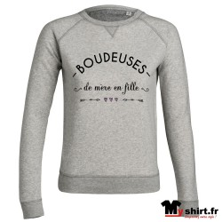 sweat boudeuses de mère en fille