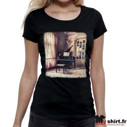 t shirt vintage piano