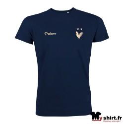 t-shirt deux étoiles personnalisé