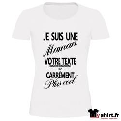 t shirt maman personnalisé