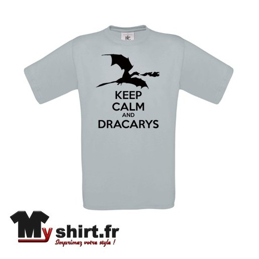 t shirt keep calm and dracarys game of throne