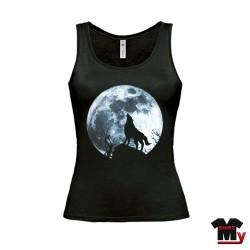 tee shirt femme loup pleine lune