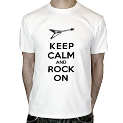T-shirt-Keep-calm-and-Rock-on