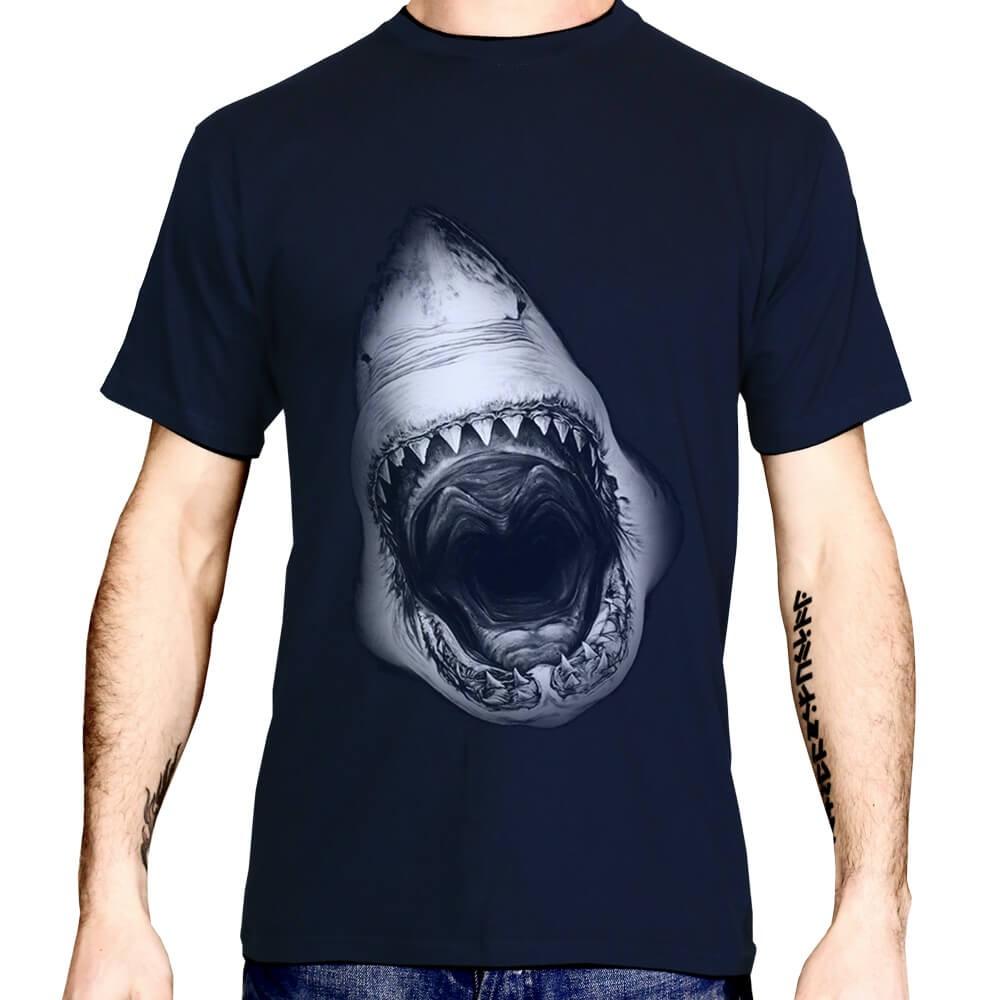 D'impression T Requin Shirt Haute Qualité Numérique XTkuOiPZ