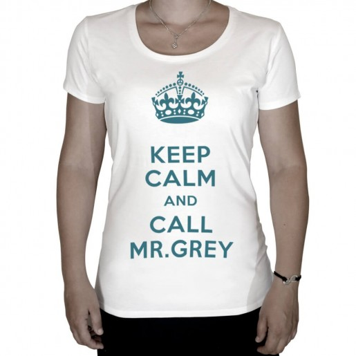 T-shirt Keep calm and call Mr Grey