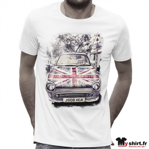 T-shirt Homme voiture vintage