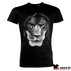 t shirt tete de lion