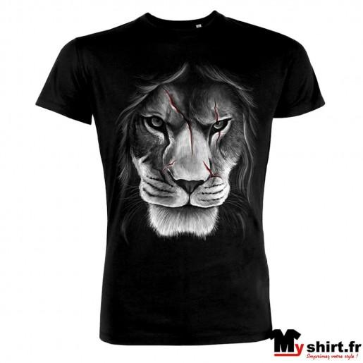 t shirt tete de lion