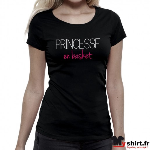 T-shirt Princesse en Basket