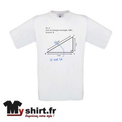 tshirt humour pythagore